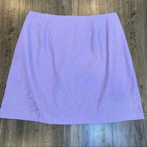 Styleworks NWT Lavender Embroidered Skirt 16